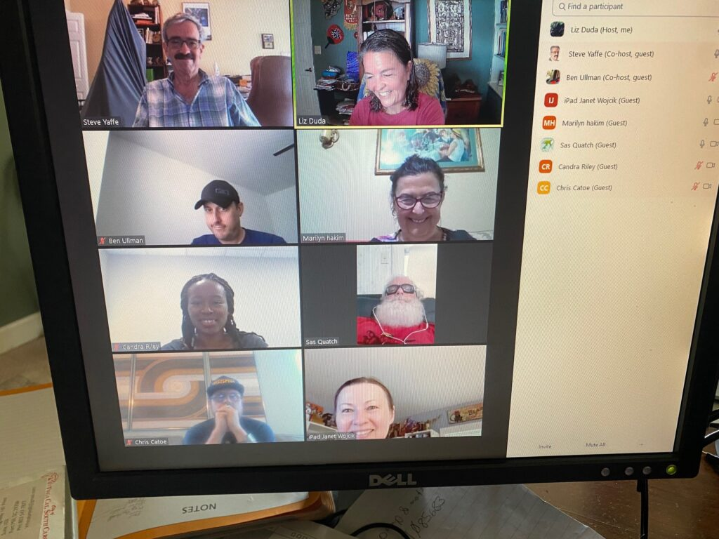 Picture of Zoom meeting participants